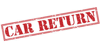 Car return red stamp Royalty Free Stock Photos