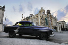Car and Revolution palace in havana, cuba Stock Images