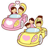 Car ride family and couples Royalty Free Stock Photography