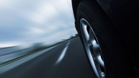 Car ride on road - motion blur Stock Image