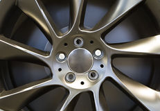 Car rim close-up Stock Image
