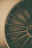 Car rim detail Stock Photography
