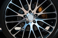 Car rim and wheel Stock Image