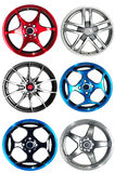 Car rims. Steel alloy car rims over the white background Royalty Free Stock Images