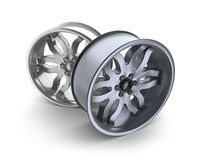 Car rims concept. Isolated on white Royalty Free Stock Images