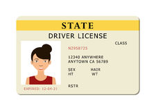 Car river licence. Royalty Free Stock Photography