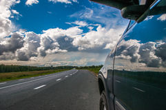 Car on the road Royalty Free Stock Photography
