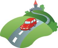 Car on the road Royalty Free Stock Photo