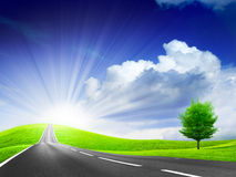 Car road Royalty Free Stock Image