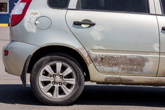 The car after road accident. Royalty Free Stock Photo
