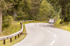 Car on road in Alps mountain Royalty Free Stock Photography