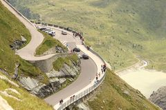 Car road in the Alps Royalty Free Stock Photo
