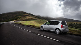 Car on a Road - Azores, Sao Miguel Island Portugal Royalty Free Stock Photos