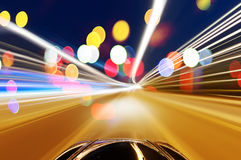 Car on road with motion blur background. Royalty Free Stock Photo