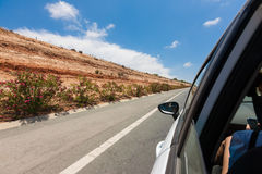 Car on the road with motion blur background Stock Photos