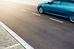 Car on the road, motion blur effect Stock Image