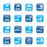Car and road services icons Royalty Free Stock Image