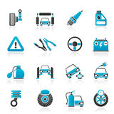 Car and road services icons. Vector icon set Royalty Free Stock Image