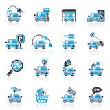 Car and road services icons Stock Photography