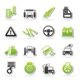 Car and road services icons. Vector icon set Stock Image