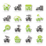 Car and road services icons Stock Images