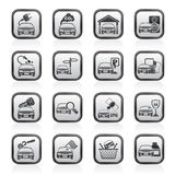 Car and road services icons Royalty Free Stock Photos