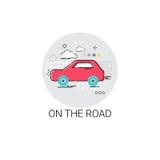 Car On Road Tour Tourism Transport Icon Stock Photo