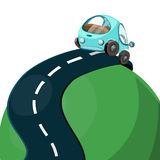 Car on the road, vector illustration. Stock Images
