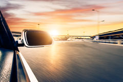 Car on the road whit motion blur background Stock Photography