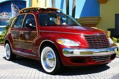 Car at Ron Jon's Surf Shop, Cocoa Beach, Florida stock image