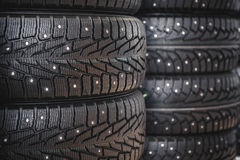 Car rubber tire close up Stock Images