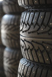 Car rubber tire close up Stock Photo