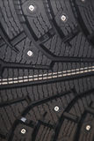 Car rubber tire close up Royalty Free Stock Images