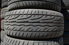Car rubber tyres Royalty Free Stock Images