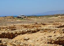 Car and ruins Stock Image