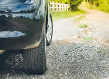 Car on rural road Royalty Free Stock Photography