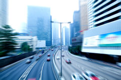 Car rushing on the street Stock Photography
