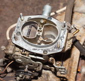 Car's carburetor with the cover removed Royalty Free Stock Photo