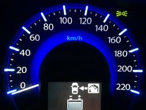 Car`s dashboard Stock Image