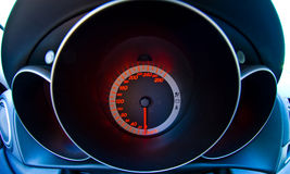 A Car's Dashboard Speedometer. A modern speedometer in the dashboard of a new car Stock Photography