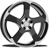 Cars disk. Black. Sport Royalty Free Stock Photos