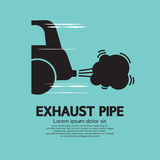 Car's Exhaust Pipe. Vector Illustration Royalty Free Stock Images