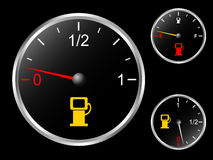 Car's fuel gauge Royalty Free Stock Photos