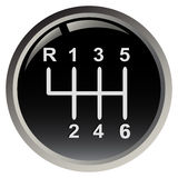 Car's gear stick Royalty Free Stock Photos