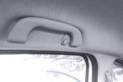 Car`s grab handle,Holding plastic car grab handler for the passenger in car. Car`s grab handle,Holding plastic car grab handler for the passenger stock photos