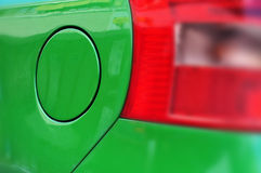 Car's green fuel tank Stock Photos