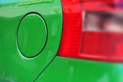 Car's green fuel tank Stock Photos