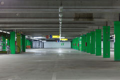 Car`s parking. Underground garage cars parking in a mall Stock Photo