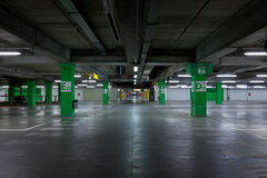 Car`s parking. Underground garage cars parking in a mall Stock Image