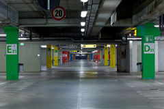 Car`s parking. Underground garage cars parking in a mall Royalty Free Stock Image
